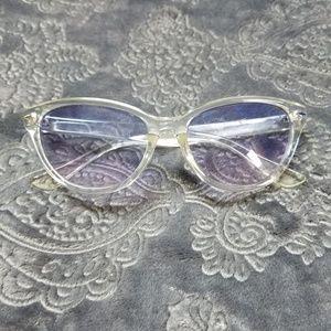 Clear blue cat eye Olsenboye sunglasses GUC